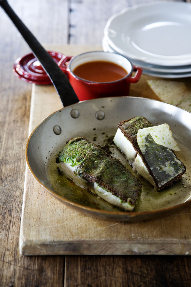 Connoisseur Magazine Recipe: Kingfish Fillets with Herb Crust & Fresh Tomato Sauce