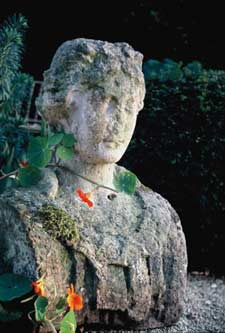 A Composition stone female herm bust
