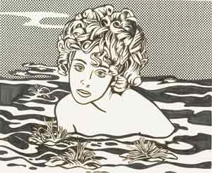 Lichtenstein-Girl in Water