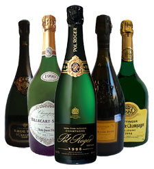 Various Champagne bottles