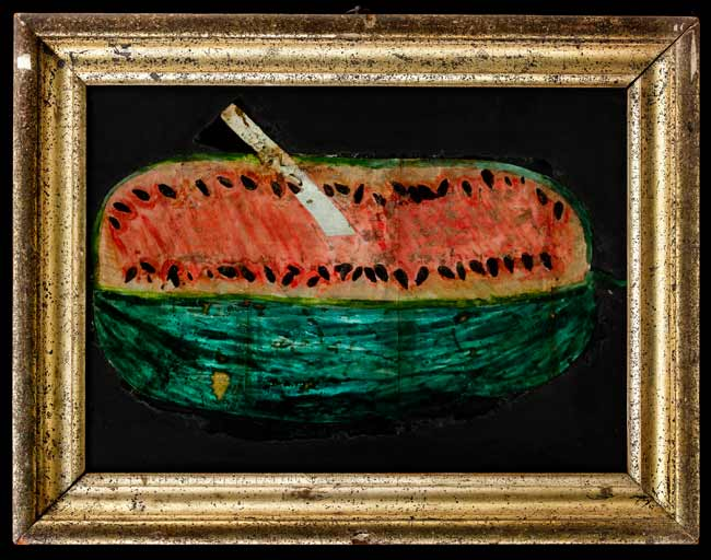 Watermelon_Tinsel_Painting