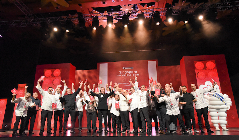 Michelin announced the first selection of the MICHELIN guide Singapore 2016