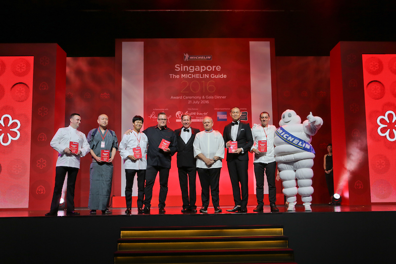 Six other establishments obtain two stars in this 2016 edition of the MICHELIN Singapore guide